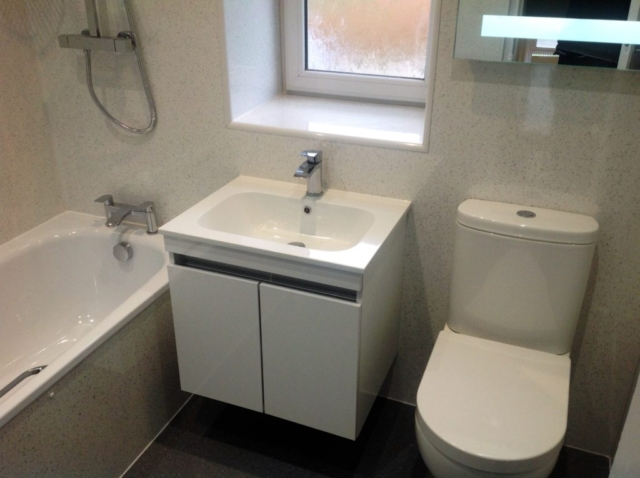 Wall mounted, multipanel, wet wall, basin
