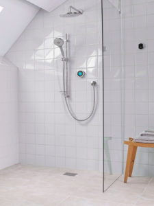 wet room using digital shower