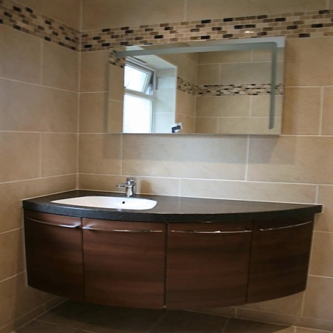 Curved, basin, storeage, wall mounted